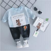 儿童女宝宝春秋装套装男小童棉0衣服2洋气4两件套1-3周岁韩版潮
