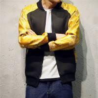 新款中国风男装 原创袍刺绣袖拼接大码夹克 男复古民族外套唐装