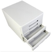 文件橱收纳箱硬塑文具柜办公用品桌面文件柜五层塑料抽屉