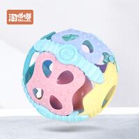 婴儿智力软胶手抓球0-6-12个月触觉感知类玩具宝宝感统健身球
