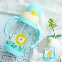 幼儿水杯带吸管夏季宝宝水壶漏摔夏天幼儿园儿童专用喝水杯子K30