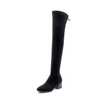 星期六(ST&SAT)秋冬高跟粗跟舒适圆头过膝长靴女SS84117808