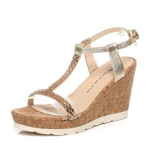 Tata/他她夏季专柜同款牛皮女凉鞋2A208BL6
