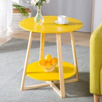 亿家达茶几创意圆形餐桌子时尚简约小户型客厅桌子北欧简约小茶桌