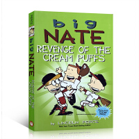 【全店300减100】Big Nate系列全彩漫画 英文原版 Revenge of the Cream Puffs 儿童