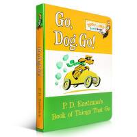 预售 Go, Dog Go! 纸板书 Dr. Seuss苏斯博士 PD Eastman 启蒙入门英文原版绘本童书 低幼启