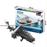 万格歼15飞机模型歼20战斗机武直10兼容乐高军事拼插积木拼装玩具