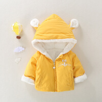 儿童秋冬装婴儿棉衣女宝宝加厚棉袄男童加绒保暖外套韩版洋气