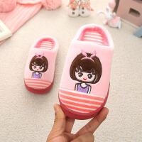 儿童棉拖鞋亲子款冬季男童防滑软底儿童室内女宝宝棉鞋可爱冬拖鞋