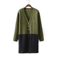 D9针织衫女开衫 秋装新款2016加厚毛衣修身 外搭披肩针织外套0.82