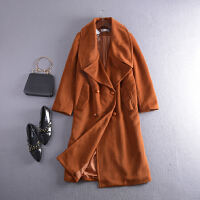 【一降再降】C1【2.6斤】FSLL#25秋冬新款纯色长袖双排扣毛呢外套