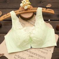 夏季款性感蕾丝聚拢胸罩大胸显小调整型内衣女士透气胖mm文胸