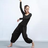 拉丁舞蹈练功服女成人新款上衣秋冬新款长袖现代舞专业表演服