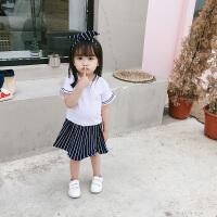 夏装洋气女童套装儿童裙子女宝宝公主裙小童半身裙