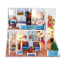 儿童木质3d立体拼图diy手工拼装房子模型成年减压大型益智玩具女