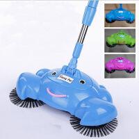 家用 手推式扫地机手动吸尘器 魔法扫把扫帚吸尘扫把 蓝色