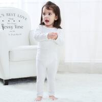 婴儿保暖套装宝宝秋衣秋裤套装棉上衣高腰护肚打底裤儿童内衣