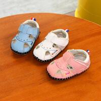 男女童婴儿学步鞋包头凉鞋夏季小宝宝步前透气
