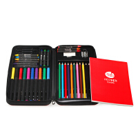 美乐儿童绘画文具套装画画幼儿蜡笔彩铅水彩笔精致礼盒学习用品
