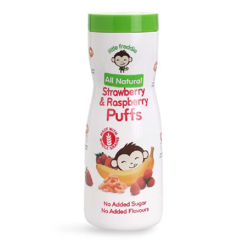英国进口小皮泡芙Little Freddie树莓草莓泡芙手指谷物圈宝宝泡芙