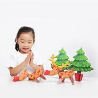 英文原版 Christmas圣诞绘本圣诞节手工礼物 Christmas Art Ideas 亲子互动创意玩具纸板 儿童