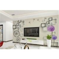 电视背景墙壁纸简约现代客厅3D立体影视墙壁画卧室墙布蒲公英墙纸
