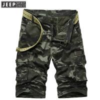 JEEP SPIRIT吉普 2018年夏季新品男士短裤 工装多袋迷彩五分裤LST0133