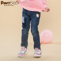 【秒杀价:90】Pawinpaw宝英宝卡通小熊童装冬季款女童牛仔裤