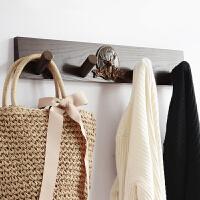 欧式实木挂钩壁挂简约客厅墙面挂衣架创意家用门后强力衣帽钩