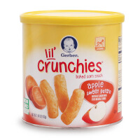 美国进口GERBER嘉宝 苹果甜薯全麦谷物泡芙条 宝宝零食 婴儿辅食