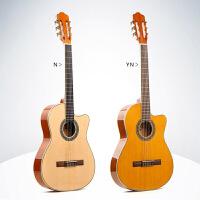 古典木吉他男女儿童旅行吉他36 39寸 圆缺角考级初学 薄电箱