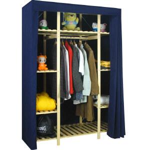 【每满100-50】宜哉 33C型132宽 松木实木简易衣柜 简易布衣橱柜�MY33C.753LF�