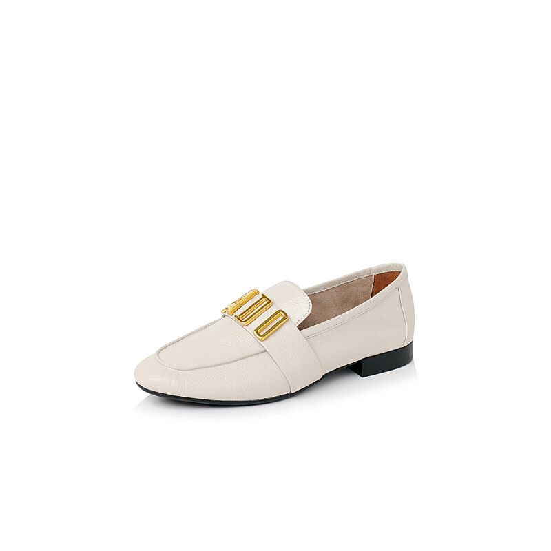 Belle/百丽2017新款秋季时尚舒适百搭牛皮革女皮鞋16103CM7