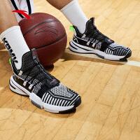 【满99-20】安踏篮球鞋轻狂1代战靴2021新款冬季保暖男鞋实战球鞋112021609