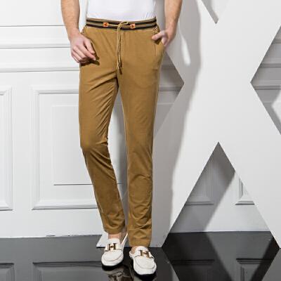 1号牛仔 男装春夏季薄款男裤韩版直筒长裤青年裤子修身休闲裤男