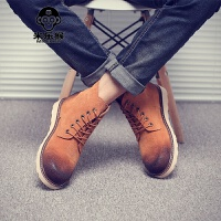 米乐猴 潮牌男靴子韩版男士马丁靴男英伦高帮鞋短靴工装靴圆头复古冬季潮男鞋