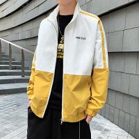 秋季立领夹克男韩版潮流新款开衫休闲外套男青少年衣服潮男上衣
