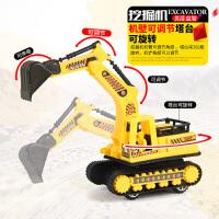 超大号惯性工程挖土车套装挖掘机运输翻斗车男孩儿童玩具小汽车
