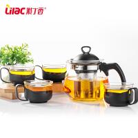 花茶壶家用茶杯茶壶冲茶壶玻璃茶壶不锈钢过滤茶具套装
