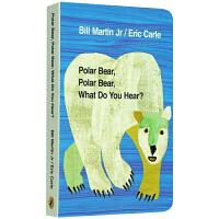 廖彩杏书单英文原版绘本Polar Bear Polar Bear What Do You Hear北极熊你听到了什么B