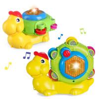 电动蜗牛爬行1-6岁男女孩玩具 4合1蜗牛音乐声光玩具