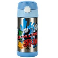 【当当自营】THERMOS膳魔师 350ml高真空不锈钢儿童吸管保温杯F4011 托马斯F4011-TMS002