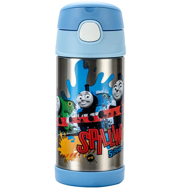 THERMOS膳魔师 350ml高真空不锈钢儿童吸管保温杯F4011 托马斯F4011-TMS002
