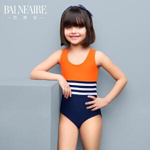 范德安新款泳衣  中大童可爱儿童连体学生泳装