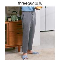 三枪睡裤男纯棉2020春夏新品系带居家宽松休闲全棉男士家居长裤