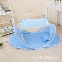 免安装可折叠婴儿蚊帐罩宝宝蒙古包带支架有底新生儿童床蚊帐M 送冰丝凉席
