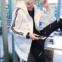 秋季长风衣男士韩式中长款大衣修身学生加长薄款韩版休闲冬季外套