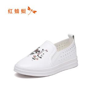 红蜻蜓女鞋秋冬休闲鞋板鞋女鞋子WNB7176