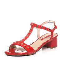 Tata/他她夏季专柜同款牛皮女凉鞋2USA2BL6