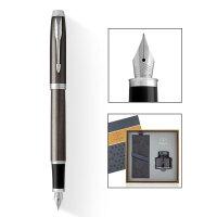 PARKER 派克 2016IM金属灰白夹墨水笔+17款墨水礼盒
